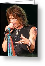Steven Tyler Greeting Card by Don Olea