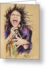 Steven Tyler Greeting Card by Melanie D