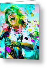 Steven Tyler Greeting Card by Rosalina Atanasova