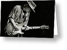 Stevie Ray Vaughan 1984 Greeting Card by Chuck Spang