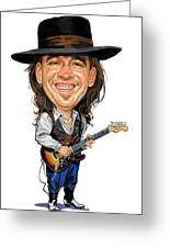 Stevie Ray Vaughan Greeting Card by Art