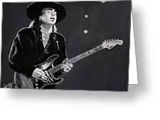 Stevie Ray Vaughan Greeting Card by Tom Carlton