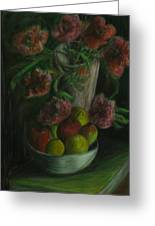 Still Life In A Dark Room Greeting Card by Michael Anthony Edwards