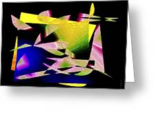 Still Life In Geometric Art Greeting Card by Mario Perez