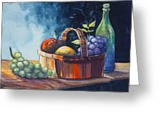 Still Life In Watercolours Greeting Card by Karon Melillo DeVega
