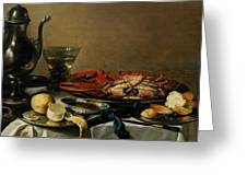 Still Life Greeting Card by Pieter Claesz