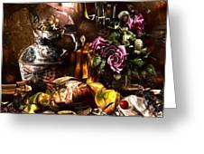 Still Life With A Cherry. Greeting Card by Tautvydas Davainis