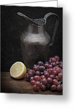 Still Life With Grapes Greeting Card by Krasimir Tolev