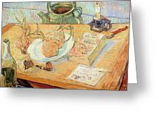 Still Life With Onions Greeting Card by Vincent van Gogh