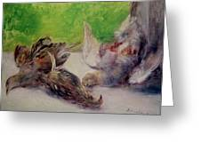 Still Life With Pheasants  Greeting Card by Pierre Auguste Renoir