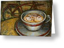 Still life with red cruiser bike Greeting Card by Mark Howard Jones