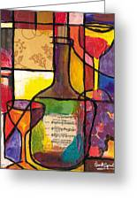 Still Life With Wine And Fruit Greeting Card by Everett Spruill