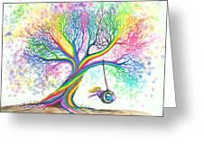 Still More Rainbow Tree Dreams Greeting Card by Nick Gustafson
