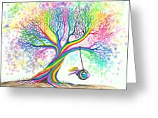 Still More Rainbow Tree Dreams Greeting Card by Nick Gustafson