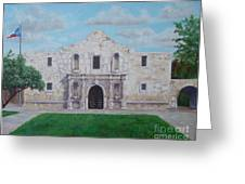 Still Standing Strong - The Alamo Greeting Card by Terrie Leyton