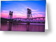 Stillwater Lift Bridge Greeting Card by Adam Mateo Fierro