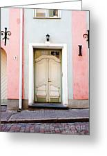 Stockholm Doorway Greeting Card by Thomas Marchessault