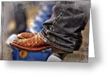 Stockshow Boots IIi Greeting Card by Joan Carroll