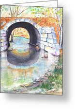 Stone Arch Bridge Dunstable Greeting Card by Carlin Blahnik