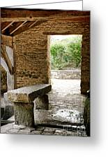 Stone Bench Greeting Card by Olivier Le Queinec