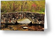Stone Bridge In The Ozarks Greeting Card by Benjamin Yeager