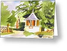 Stone Gazebo At The Maples Greeting Card by Kip DeVore