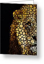 Stone Rock'd Lion - Sharon Cummings Greeting Card by Sharon Cummings