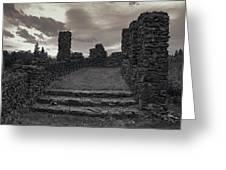 Stone Ruins At Old Liberty Park - Spokane Washington Greeting Card by Daniel Hagerman