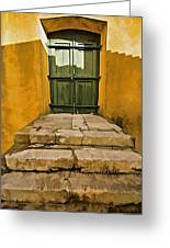 Stone Stair Entranceway  Greeting Card by David Letts