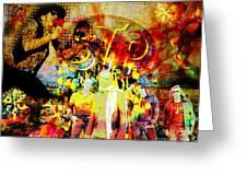 Stone Temple Pilots Original Greeting Card by Ryan RockChromatic
