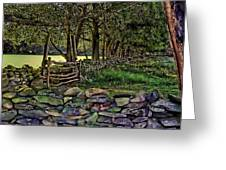 Stone Walled Greeting Card by Tom Prendergast
