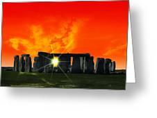 Stonehenge Solstice Greeting Card by Daniel Hagerman