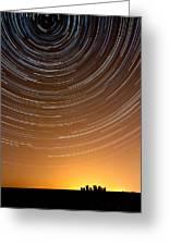 Stonehenge Startrails 1 Greeting Card by Sharpimage Net