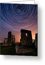 Stonehenge Startrails 3 Greeting Card by Sharpimage Net