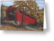 Stonelick Williams Corner Covered Bridge Clermont County Ohio 2 Greeting Card by Rita Miller