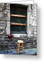 Stool Greeting Card by John Rizzuto