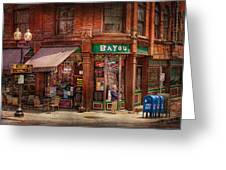 Store - Albany Ny -  The Bayou Greeting Card by Mike Savad