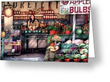 Store - Dreyer's Farm Greeting Card by Mike Savad
