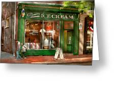 Store Front - Alexandria Va - The Creamery Greeting Card by Mike Savad