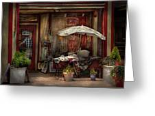Storefront - Frenchtown Nj - The Boutique Greeting Card by Mike Savad