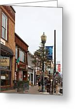 Storefront Shops In Truckee California 5d27490 Greeting Card by Wingsdomain Art and Photography