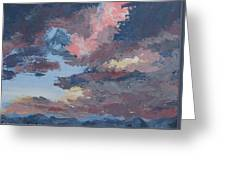 Storm A Brewin Greeting Card by Janis Mock-Jones
