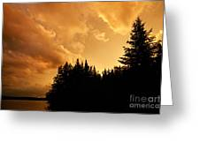 Storm Clouds At Sunset Greeting Card by Larry Ricker
