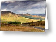 Storm Clouds Over The Glen Greeting Card by Jane Rix