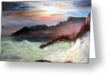 Storm On Mount Desert Island Greeting Card by Lee Piper