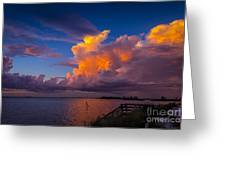 Storm On Tampa Greeting Card by Marvin Spates