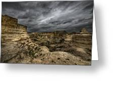 Storm On The Plains  Greeting Card by Garett Gabriel