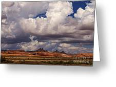 Storm Over Monument Valley Greeting Card by Janice Rae Pariza