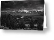 Storm Over The Tetons Greeting Card by Andrew Soundarajan