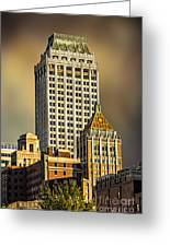 Storm Over Tulsa Greeting Card by Tamyra Ayles
